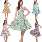 Cheap New Retro Floral Vintage Style Sleeveless Ladies 50s 60s Party Swing Dress