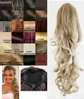 LADIES CLIP IN DRAWSTRING CURLY/WAVY PONYTAIL DOUBLE VOLUME HAIR EXTENSIONS 001