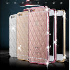 3D Bling Diamond Crystal Clear Plating Soft TPU Case Cover For iPhone 6/6S/Plus