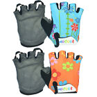 Flower Skating Sport Bicycle Bike Gloves Half Finger Cycling Gloves Children M-L