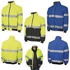 MENS BOMBER, FLEECE LINED, WATERPROOF, CLASS 3, SAFETY JACKET, REFLECTIVE, S-5XL