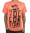 VOLCOM. Mens Short Sleeve Logo T-Shirt. Blue / Orange. Size: S, M, XL.