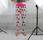 Pink Cupcakes Print Design Womens Spandex Leggings Gym Yoga Fashion Made In Uk