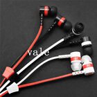 Stereo 3.5mm JackEarbud with Mic Zipper Headset Earphones For iPhone Samsung HTC