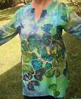 Gorgeous Butterfly Kaftan Top NEW 100% Cotton Ladies Size 16 20 Kurta Tunic
