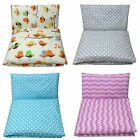 2 Pc REVERSIBLE NURSERY -BABY BEDDING SET-PILLOW-QUILT COVER  fit COT / COT BED