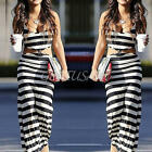 Women Summer Beach Boho Evening Club Casual Bodycon Sexy Strip Long Maxi Dress