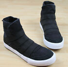 Mens high top sneaker Slip on Sport leisure shoes Walking Stripe Canvas Pulll On