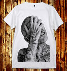 Rick Genest Zombie BoyTattoo Fashion Model Punk U&V-Neck 2 ColorsT-Shirt S-XXL W