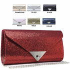 Ladies Glitter Envelope Clutch Bag Metallic Evening Bag Bridal Handbag M281-1