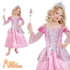 Child Princess Costume Girls Pink Fairytale Sleeping Beauty Fancy Dress Outfit