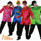 Adult Sergeant Pepper Jacket Mens Beatles 1960s Green Red Blue Pink Fancy Dress
