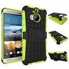 Dual Layer Shockproof Cover Hybrid Rugged Case with Kickstand for HTC One M9+