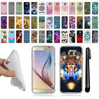 For Samsung Galaxy S6 G920 TPU SILICONE Rubber Soft Protective Case Cover + Pen