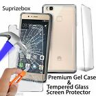 Kyпить Ultra Thin Clear Gel Case Cover+Tempered Glass Screen Protector For Huawei Phone на еВаy.соm