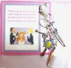 Wedding Thank You Gift from Bride to Hair Dresser / Stylist for Handbag Charm