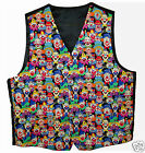 SHRINER CLOWN VEST in SIZES LARGE to 5X - CLOWNS of MANY FACES - NEW