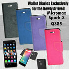Diary Wallet Style Folio Flip Flap Cover Case For Micromax Canvas Spark 3 Q385