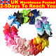 Watchers: 252620PCS Handmade Bow Hair Clip Alligator Clips Girls Ribbon Kids Sides Accessories