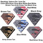 Superman American Flag USA Army Military Tactical Patch  Sewing Iron On US