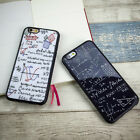 Black White Maths Acrylic Soft Phone Case Cover For Apple iPhone 5 6 7 8 +