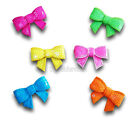 Neon Bow Iron / Sew On Embroidered Patch Applique Motif *buy 1 get 1 half price*