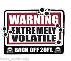 Warning Extremely Volatile - Back Off Shirt, Breaking Bad, Snarky T, Small - 5X