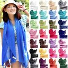 Hot Simple Women Soft Faux Pashmina Solid Silk Feel Warm Scarf Wrap Shawl Stole