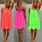 New Sexy Women's Summer Casual Sleeveless Evening Party Beach Short Mini Dress