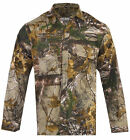 Mens Jungle Print Camouflage Army Combat Long Sleeve SHIRT Fishing Hunting