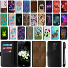 For LG K7 Tribute 5 LS675 MS330 M1 Escape 3 Flip Leather POUCH Case Cover + Pen