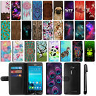 For Asus ZenFone 2E Magnetic Flip Wallet Leather POUCH Case Phone Cover + Pen