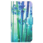 Green Bamboo PU Leather Flip Case Cover For iphone #22