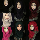 Large Cotton Viscose And Laces Hijab, Scarf, Womens Shawl