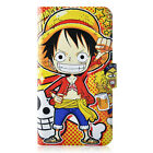 Japan Cartoon One Piece PU Leather Flip Case Cover For iphone 17