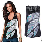 Fashion Summer Women Lace Vest Top Sleeveless Casual Tank Blouse Tops T-Shirt