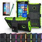 Hybrid Armor Rugged Hard Stand Gel Case Shockproof Cover For Nokia Lumia 435