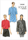 Vogue V9096 Easy Striking Jacket Curved Front inc Plus Size Sewing Pattern 9096