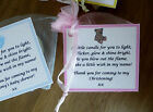 Baby Shower   Christening   Baptism vanilla candle FAVOURS-can be personalised