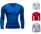 Thin Cotton polyester Solid long sleeve T-shirt Men V neck Fit Bottoming shirts