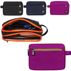 Travel Double-Deck Organizer Bag Tablet Sleeve Pouch USB Flash Drive Cable Ipad