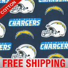 "San Diego Chargers Cotton Fabric NFL 60"" Wide Style SAND-6281 FREE SHIPPING"