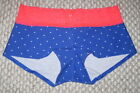 NWT VICTORIA'S SECRET PINK STAR PATRIOTIC LACE BOYSHORT UNDERWEAR PANTIES PANTY