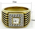 Mens Ring Nugget Yellow Stainless Steel Size 8 P R T V 9 10 11 12 13 Z+1 LTK750E