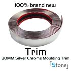Silver Chome/Glossy Black 8mm~40mm Width Moulding Trim Adhesive Car Edge Guards
