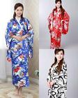 full length colourful Kimono Costume Dress Robe Gown Obi fashion women nightwear