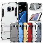 Rugged Dual Layer Defender stand Cover Case For Samsung Galaxy S7 /S7 Edge
