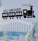 BIG All Aboard Train Kid Room Vinyl Wall Decal Sticker