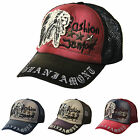 Vintage Washed Indian Patch Cool Mesh Baseball Hats Trucker Caps Adjustable Back