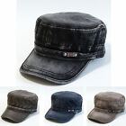 NWT Vintage Washed Men's Cotton Cap Military Army Cadet Hat **Free Shipping**